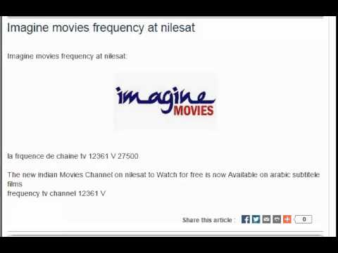 Imagine movies frequency at nilesat
