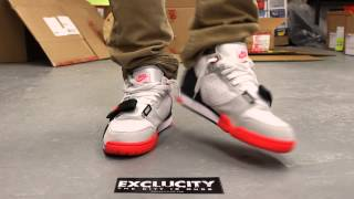 """Air Trainer 1 Mid PRM QS """"Infrared"""" On-feet Video at Exclucity"""
