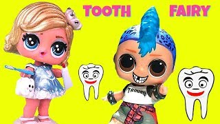 Custom LOL Surprise Doll Tooth Fairy Visit Punk Boi Sleepover Slumber Party