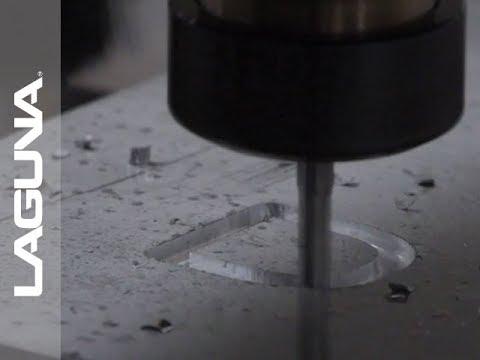 CNC Cutting Aluminum - 3D Letter Cutout on Router