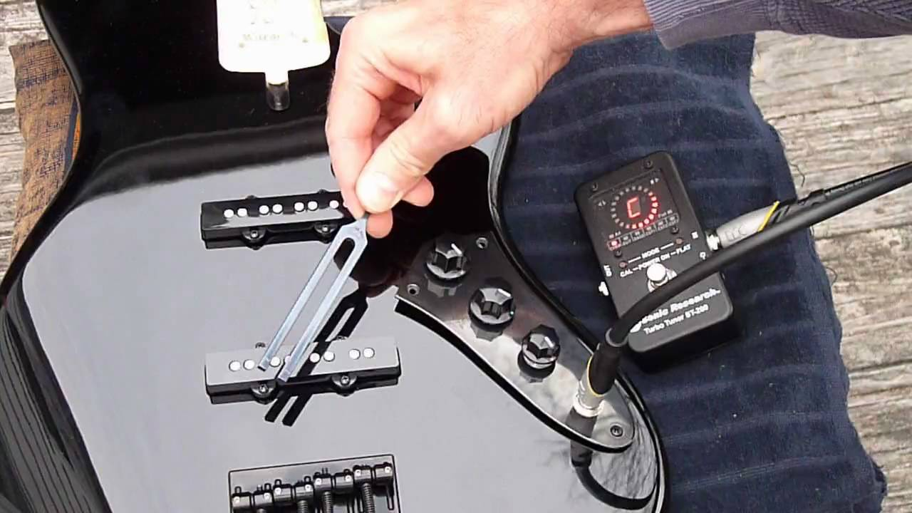 Jazz Bass Pickup Install - YouTube