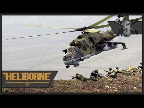 Mi-24 Close Air Support in Afghanistan - Heliborne - USSR Campaign