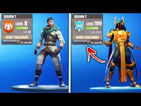 Top 5 FASTEST Ways to Rank up The Fortnite Season 7 Battlepass