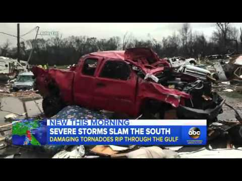 Tornadoes and Storms Kill 1 in Mississippi, 2 in Louisiana