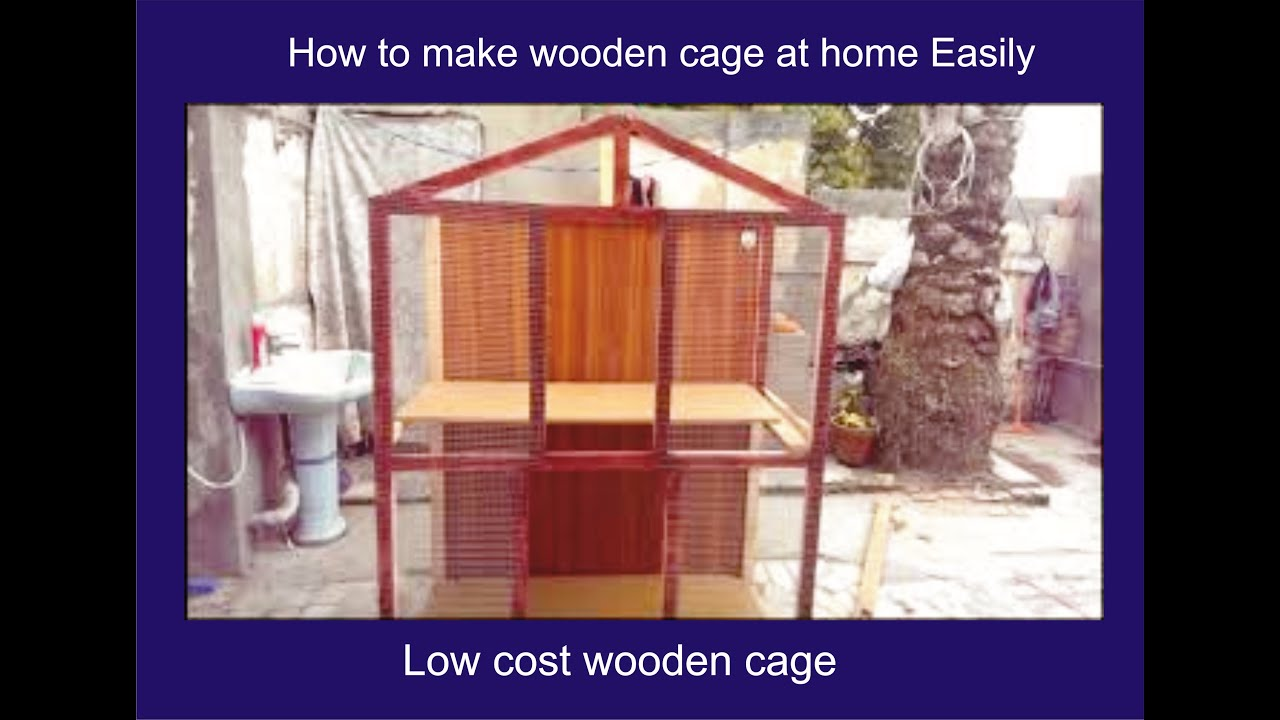 How To make Birds Cage With Wood | Simple Beautiful Cage making At Home