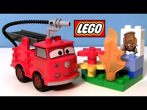 disney cars lego duplo red how to learn to build radiator springs fire truck toy red with stanley - Disney Cars Toys Truck