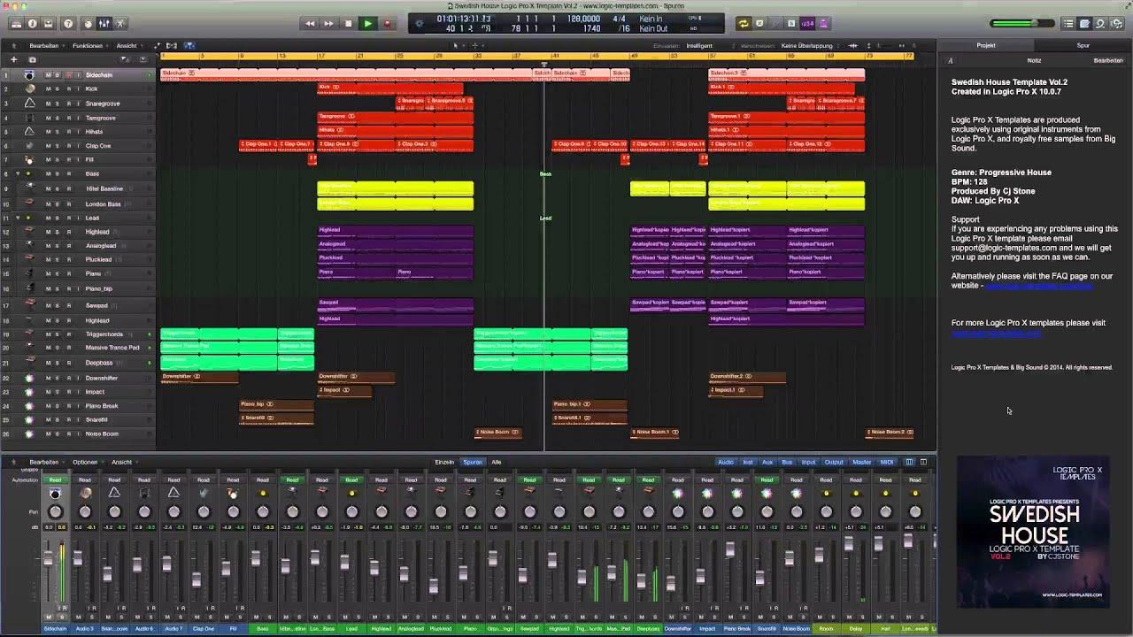 Swedish House Logic Pro X Template Vol 2 - YouTube