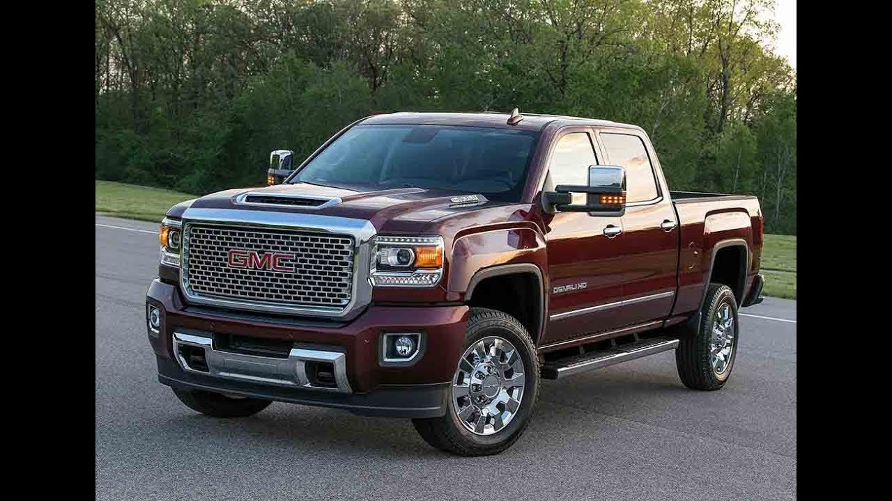 the new 2018 gmc sierra denali 2500hd heavy duty pickup truck youtube. Black Bedroom Furniture Sets. Home Design Ideas