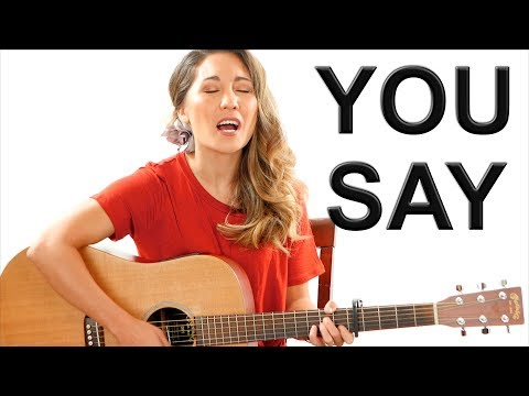 You Say - Lauren Daigle EASY Guitar Tutorial with Fingerpicking and Play Along