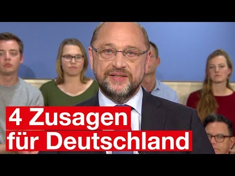Martin Schulz: 4 Zusagen für Deutschland