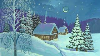 Уроки рисования. Как нарисовать зиму гуашью How to Draw a Winter Scene(Этот урок посвящен времени года зиме и называется, как нарисовать зиму красками гуашью поэтапно. ▻ Скачай..., 2014-12-15T17:48:46.000Z)