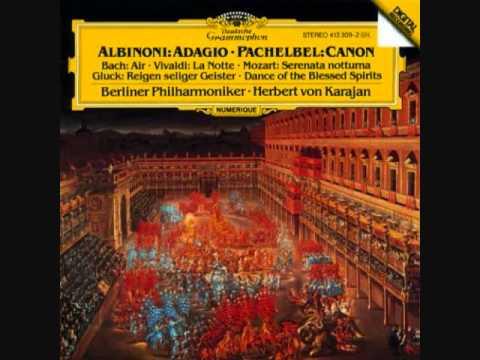 Bach, JS, Orchestral Suite No.3 in D, BWV1068, Air,  Berlin Philharmonic, Herbert von Karajan