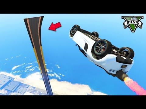 GTA V Online: O SALTO A 999,9 km/h na MEGA RAMPA!!! MUITO TURBO