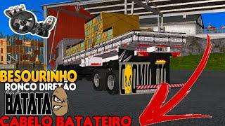 BEM LOKO NO BESOURINHO DO CABELO BATATEIRO A PAU CRUZANDO MARCHA ETS 2 VOLANTE G29