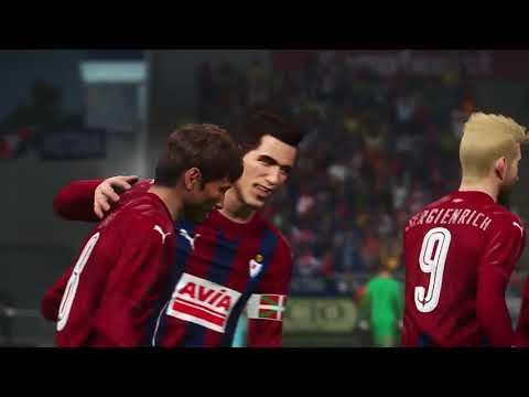 PES 2018 - Eibar vs Barcelona full match gameplay live broadcast camera HD60fps