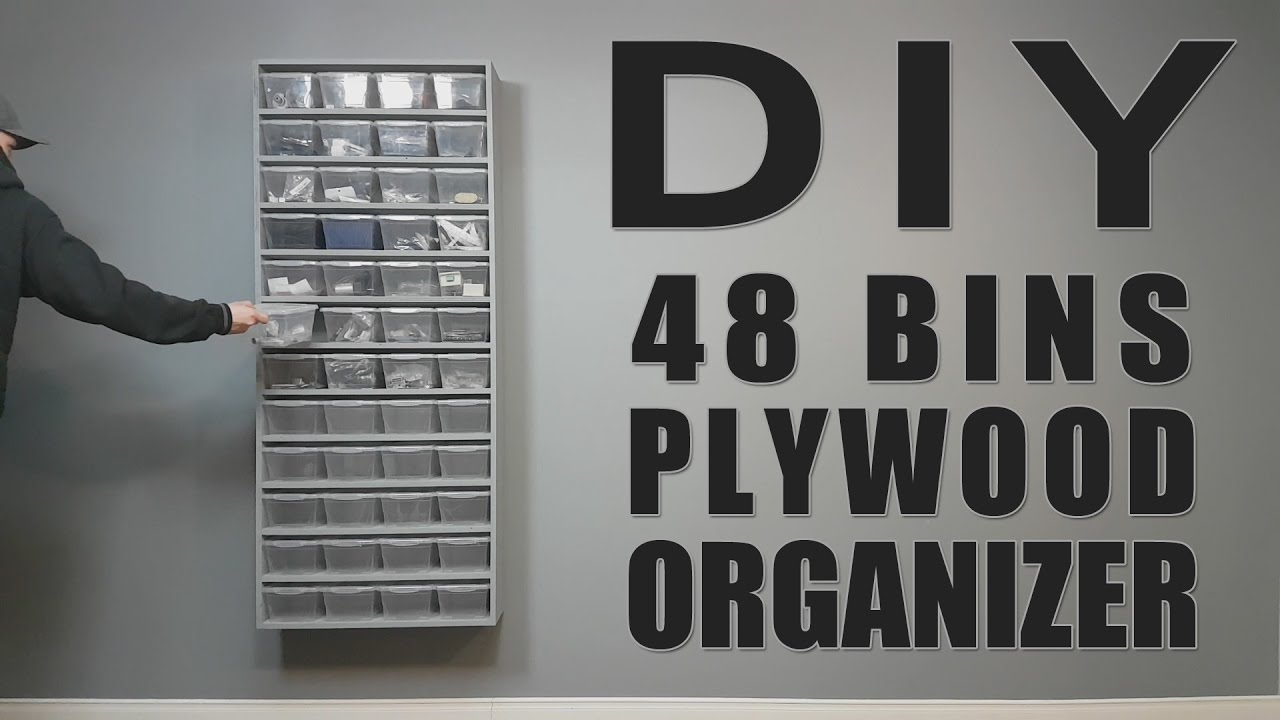 Diy Build One Sheet Plywood 48 Bins Organizer 7 Steps With