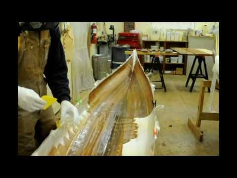 Fiberglassing the Hull - inside