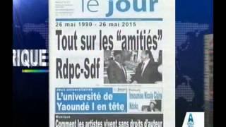 REVUE DE PRESS YDE   DU  27   05   2015