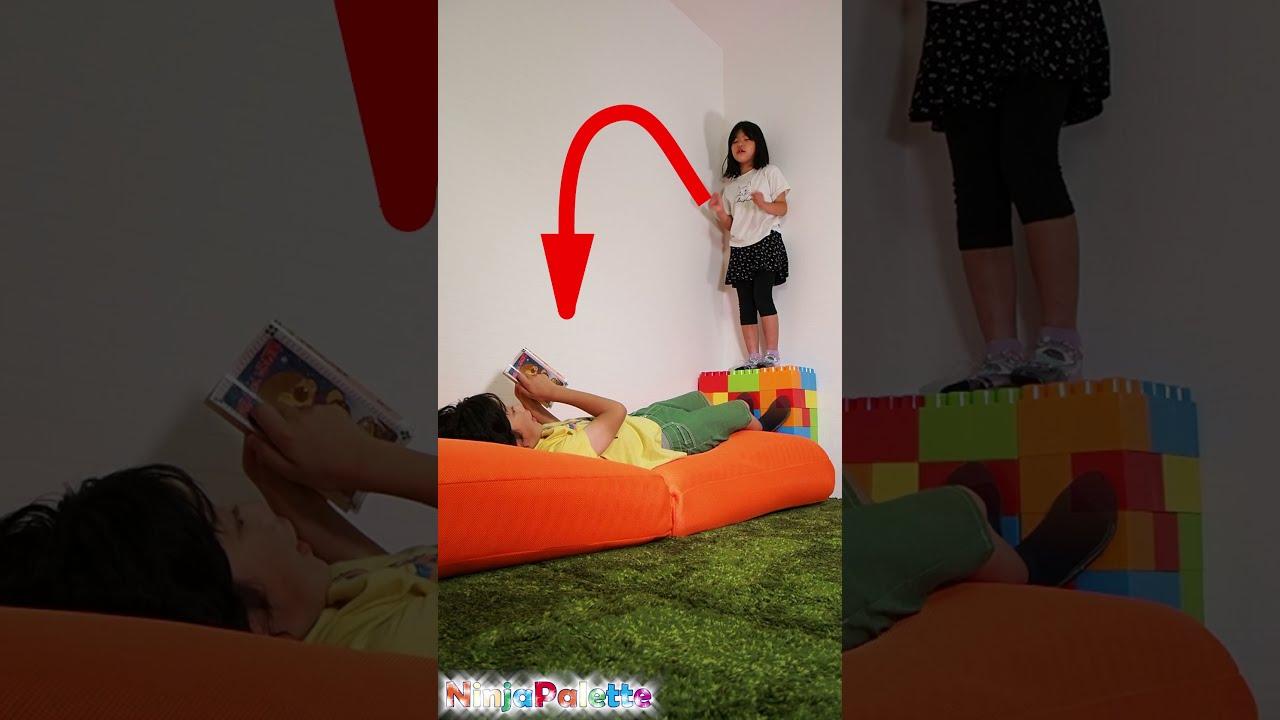 ジャンプできるかな? 面白い VFX動画!Funny jump vfx video   Viral magic video #SHORTS