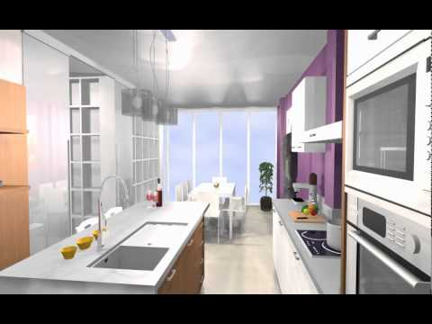 Estudio cocina office con isla central para zona de aguas for Cocinas modernas con isla central y desayunador