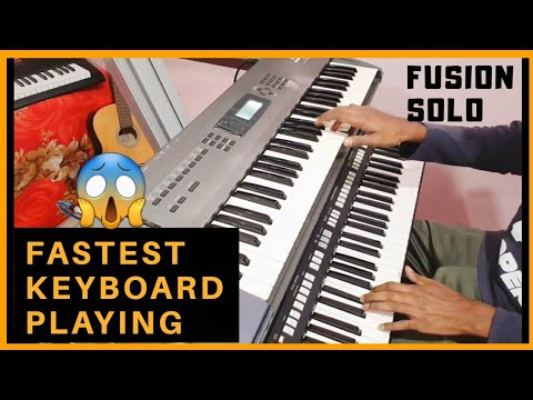 FASTEST KEYBOARD PLAYING | FUSION SOLO | ROCK STYLE
