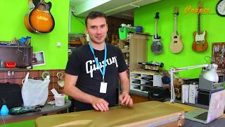 Латунный порожек и замена колков на Gibson Les Paul Standard 2015
