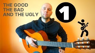 The Good The Bad And The Ugly - Fingerstyle Guitar  Tutorial (урок 1)