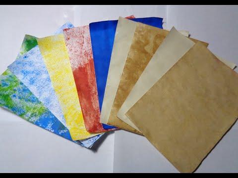Como envejecer el papel con cafe y decorarlo con tinte - Papel de pared para pintar ...