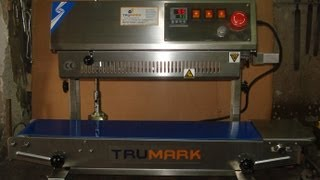Heavy duty continuous band sealer, vertical band sealing machine, bag pouch sealing machine