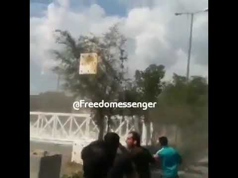 Feb  19, 2019, the population of the city of Andimeshk, southwestern Iran ripped off a banner suppor