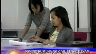 90% of takers flunk civil service exam