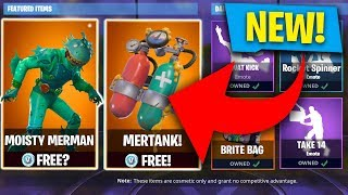 FIRST LOOK! * NEW * MOISTY MERMAN SKIN STORE UPDATE! (Fortnite: Batte Royale)