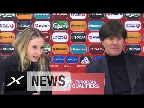 Mi Scusi! Joachim Löws Dolmetscherin sorgt für Lacher | San Marino - Deutschland 0:8
