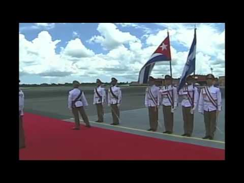 Arribo del presidente Salvador Sánchez Cerén a Cuba - VII Cumbre AEC