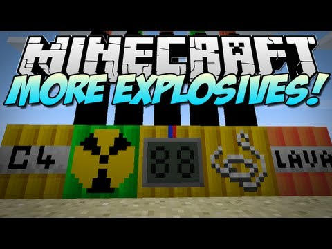 Minecraft   MORE EXPLOSIONS! (Nuclear Bombs!)   Mod Showcase [1.5.1]