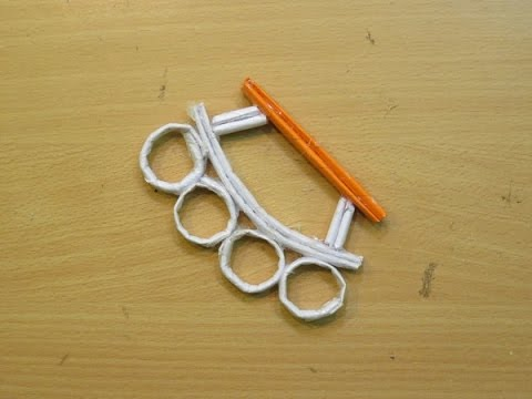 How to make a paper Brass knuckles - Easy paper knuckles Tutorials