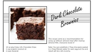 Solar Oven Recipes: YUMMY Dark Chocolate Brownies