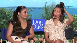 "Rats in Vanessa Hudgens house? Interview with Nina Dobrev & Vanessa Hudgens for ""Dog Days."""