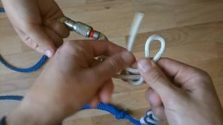 видео Узлы с использованием карабина, карабинные узлы