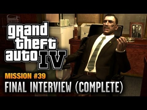 GTA 4 - Mission #39 - Final Interview [Complete Mission] (1080p)