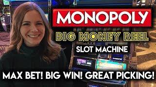 Monopoly BIG MONEY REEL! BIG WIN!!! Free Spins and Perfect Utilities BONUS!