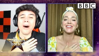 Katy Perry reacts to adorable baby-bump video reactions! - The Graham Norton Show - BBC