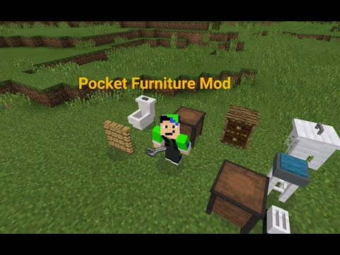 Pocket Furniture Mod Review Minecraft Pe Youtube