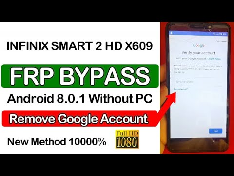 INFINIX X609 FRP Lock Google Account Bypass Android 8.1.0 New method
