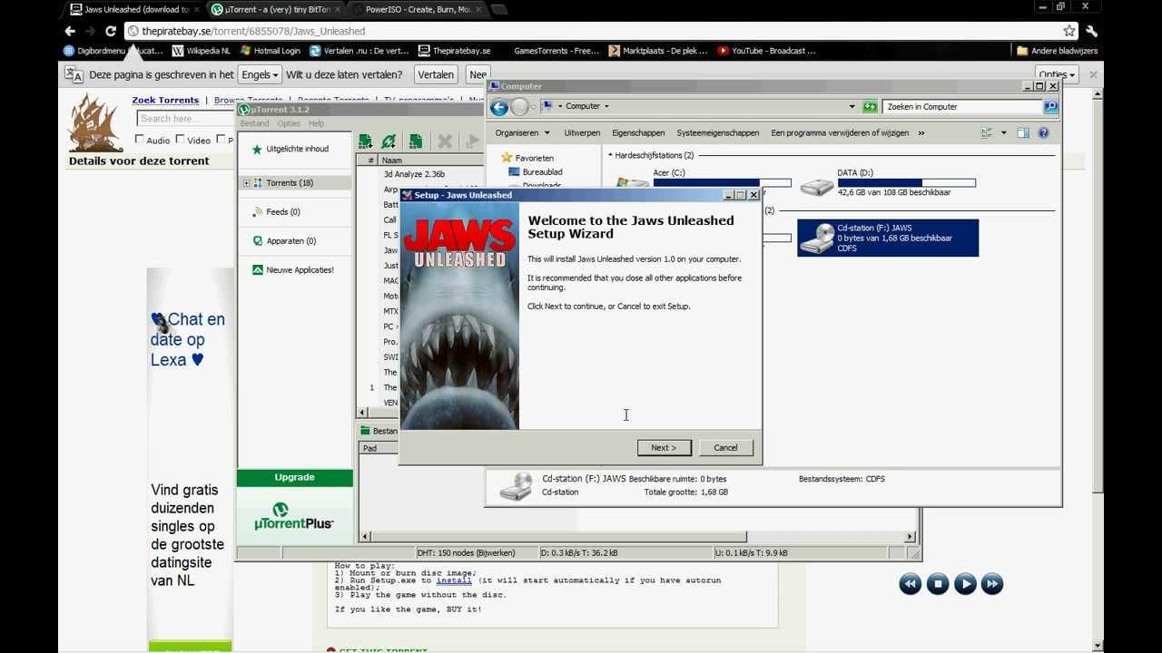 Jaws unleashed (2006) скачать через торрент на pc бесплатно без.