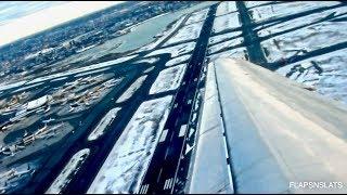 Amazing Winter Scenery - Delta MD-90 Morning Takeoff Boston Logan