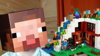 Нуб собирает ЛЕГО Майнкрафт - LEGO MINECRAFT - 21134 База на водопаде