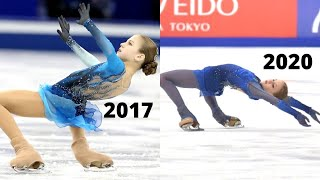 Alexandra TRUSOVA s CANTILEVER Progress Over Time Александра Трусова
