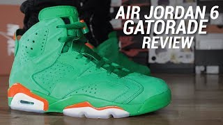 0478e6586bce3f ดาวน์โหลดเพลง How I Lace My Gatorade Air Jordan 6   4k On Foot Look ...