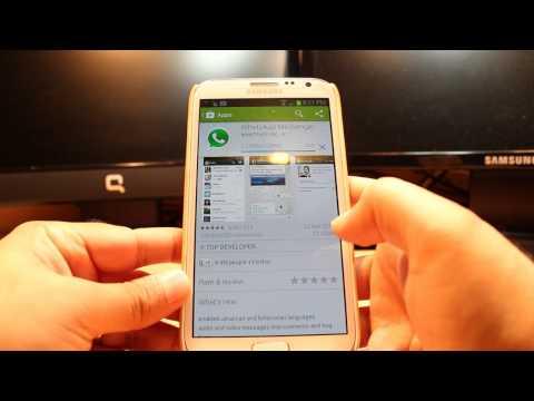 WhatsApp Messenger Install To Samsung Galaxy Note 2